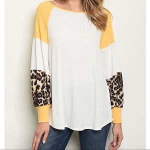 Ivory and Yellow Leopard 🐆Top